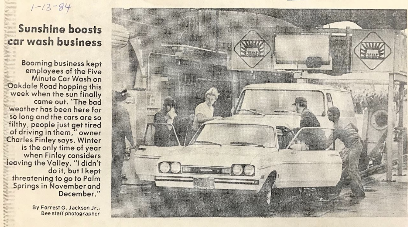 Feature Photo in the Modesto Bee, 1984.